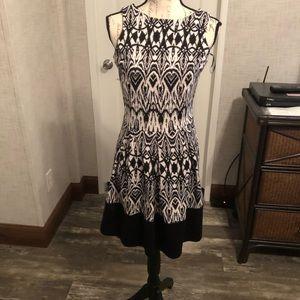 Charming Charlie black & white Aztec midi dress S